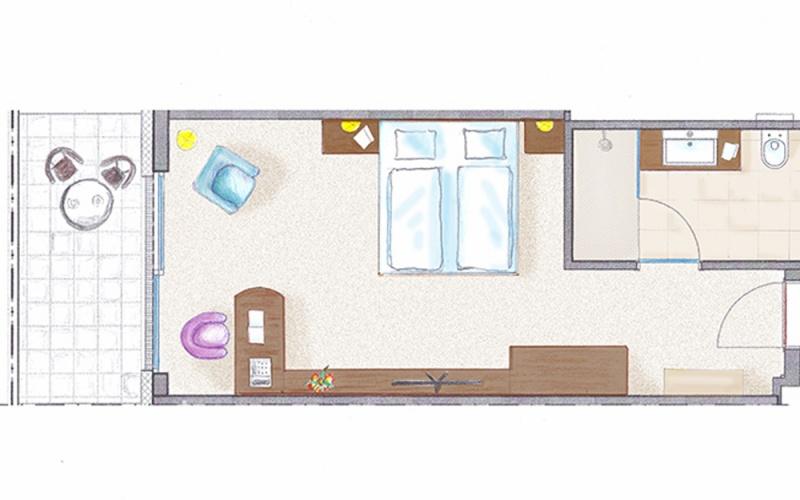 12 Doppelzimmer